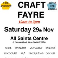 Advent Craft Fayre @ All Saints Centre and Village Square