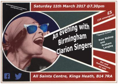 Clarion Singers concert @ All Saints Centre
