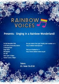 Rainbow Voices Concert @ All Saints Centre Main Hall